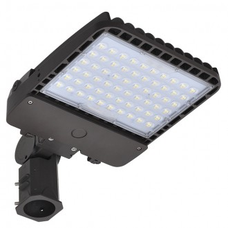 200W LED Parking Lot Low Profile Dimmable Shoebox Area Security Light, ETL-Listed & DLC-Qualfied, Daylight 5000K