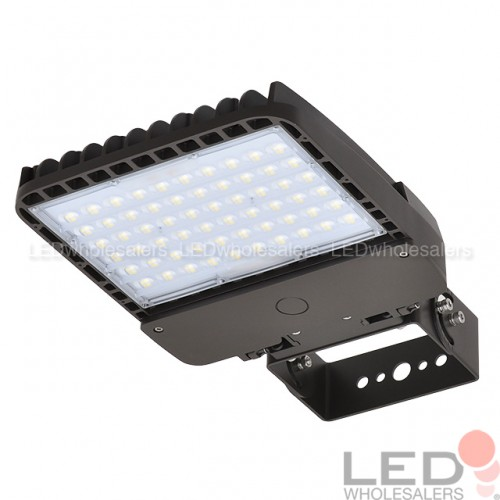 150W Or 200W LED Low Profile Dimmable Parking Lot Shoebox