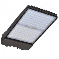 300W LED Parking Lot Low Profile Dimmable Shoebox Area Security Light, ETL-Listed & DLC-Qualfied, Daylight 5000K