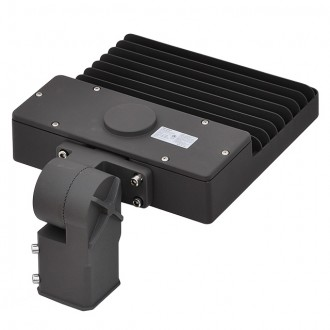 100W LED Parking Lot Low Profile Shoebox Area Security Light with Swivel Mounting Arm, ETL-Listed, Daylight 5000K