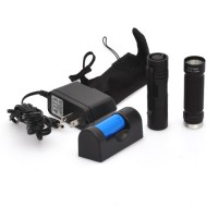 Compact Flashlight Kit with 3W CREE LED, Rechargeable Battery and Charger, Nylon Belt Holster