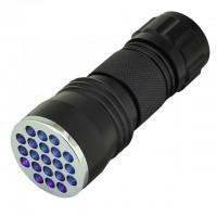 UV Ultra Violet 21-LED Blacklight Flashlight (395nm or 385nm)