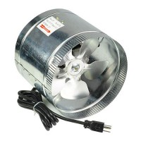 "8"" All Metal 400 CFM High Flow Inline Duct Air Booster Fan 8-Inch"