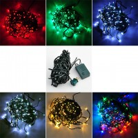 33-ft 100-LED Christmas Holiday Light String with Green Wire and Integrated Multifunction Controller