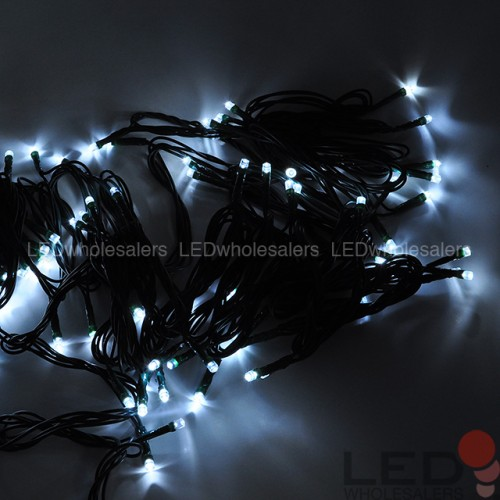 Linkable 33 Ft 100 Led Holiday String Light With Dark