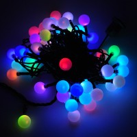 LED Color-Changing Linkable 16-Feet Christmas Light String with 50 RGB Globes