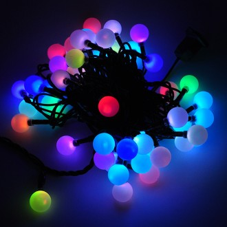 Rgb Led Christmas Lights.Linkable 16 Ft Color Changing Led Christmas Light String