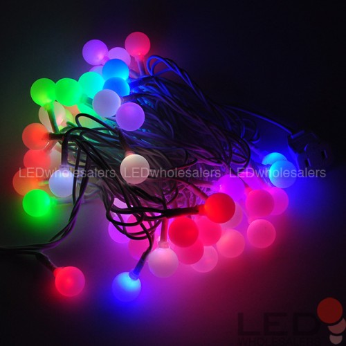 Linkable 16 Ft Color Changing Led Christmas Light String With 50 Rgb