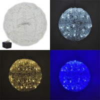 12-in Diameter Round Christmas Xmas Holiday Wedding Party Light Ball with 50 LEDs