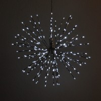 18-Inch Diameter 5-Function White and Blue Starburst Light with 240 LEDs