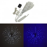 18-in Diameter 5-Function White and Blue Starburst Light with 240 LEDs