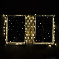 "Linkable 40""x80"" 176-LED Green Wire Christmas Net Light with Detachable Multi-Function Controller"