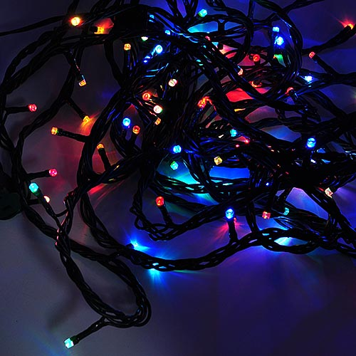 linkable color changing 33 ft 100 led christmas light string with green wire