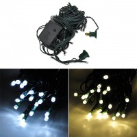 Linkable 33-ft 100-LED Green Wire String Light with Integrated Multi-Function Controller